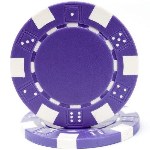 Purple Poker Chip - Trademark Poker 100 Striped Chip, 11.5gm, Purple