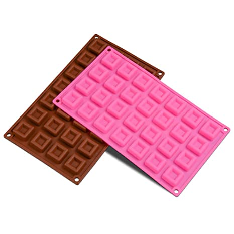 Neyouyou Molde De Silicona A Cuadros Pudín De Chocolate Cubito De Hielo Diy Molde Para Hornear