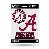 Kyпить NCAA Alabama Crimson Tide  Triple Spirit Stickers, Red, White, Black, 3 Team Stickers на Amazon.com