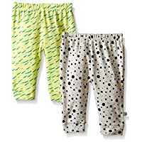 Rosie Pope Baby 2-Pack Desert Adventure Dots and Stripes Pants, Gray, 0-3 Mon...