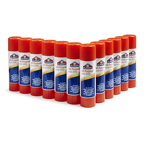 Elmer's Disappearing Purple School Glue Sticks, Washable, 0.77-Ounce Glue Sticks for Kids | School Supplies | Scrapbooking Supplies | Vision Board Supplies, 12 Count