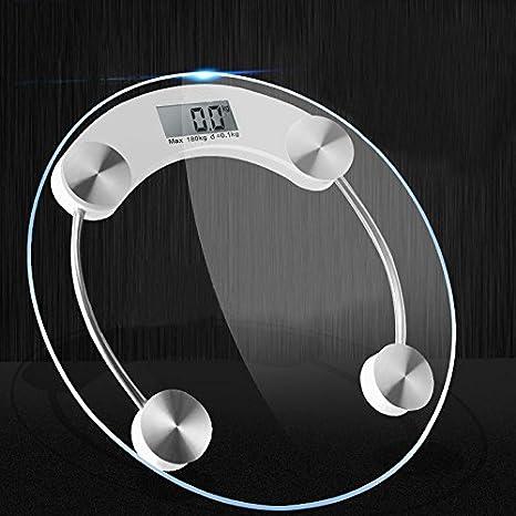 Lanlan báscula digital báscula de baño cuerpo extra grande pantalla LED Peso Equilibrio diseño de círculos y paso de inicio: Amazon.es: Bricolaje y ...