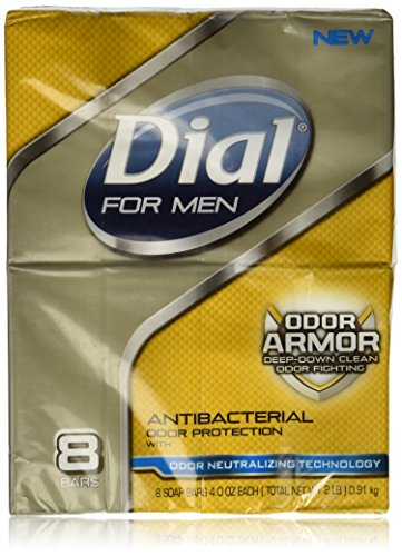 Dial for Men Odor Armor Antibacterial Soap, 4 Ounce, 8 Count (Best Antibacterial Bath Soap)