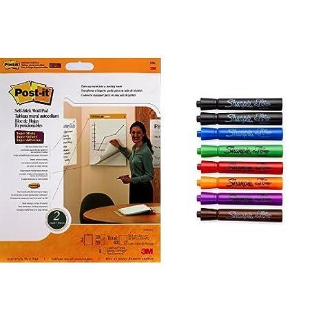 Post-It Self-Stick Wall Pad, 20-Inch x 23-Inch, (566) 3M Canada Company