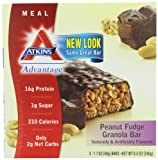 Atkins Advantage Bars, Peanut Fudge Granola, 1.7-Ounce Bars (Pack of 10) by Atkins