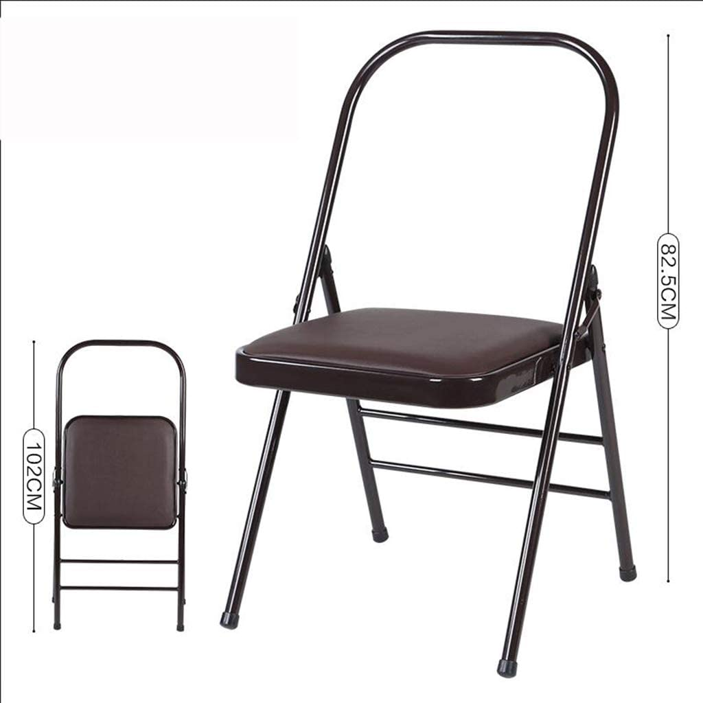 Yoga Chair, Steel Yoga Chair Accessories, Faux Leather, Brown