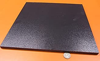".375/"" x 12/"" x 24/"" Black Color ABS Plastic Sheet Machine Grade"