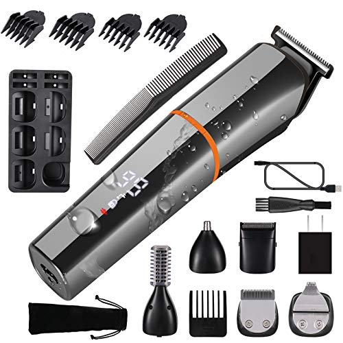 Beard Trimmer Hair Clippers For Men Nose Hair Trimmer Body Electric Razor 6 in 1 Hair Cutting Kit Waterproof USB Rechargeable