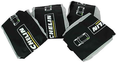 Michelin 009098 Fundas para Neumático Y Rueda, Set de 4