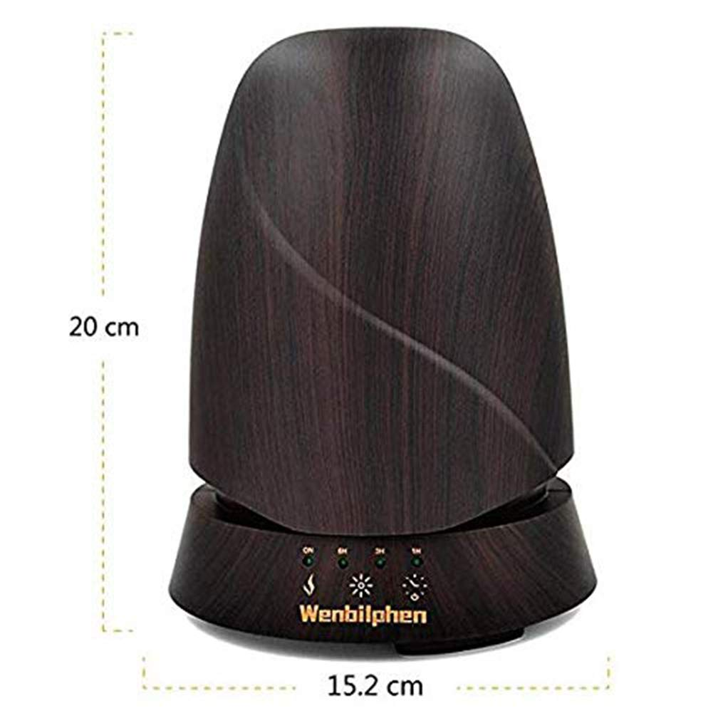QSCA Ultrasonic Wood Grain humidifier 350ml Wood Grain Aromatherapy Machine humidifier Household atomized Oil Diffuser by QSCA (Image #2)