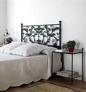 Cabezal de forja Caleta - Negro 27, Cabecero para colchón de 120 cm.