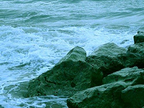 Tampa Bay Buccaneers Rocks (LAMINATED Poster7 Ocean Waves Crashing On Rocks Nature Poster7 Print 24x 36)