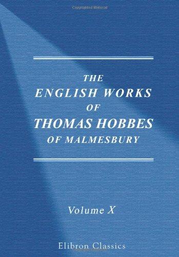 Download The Works of Thomas Hobbes of Malmesbury PDF