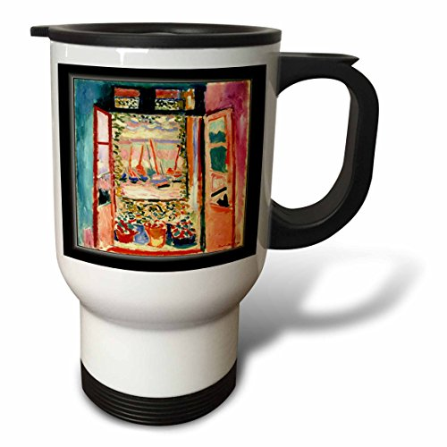 3dRose Matisse Painting The Open Window Stainless Steel Travel Mug, 14-Ounce by 3dRose (Image #1)