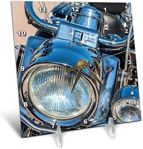 3dRose USA, Florida, Daytona Beach, Harley Davidson Bike, Week. – Desk Clock, 6 by 6-Inch dc_210257_1