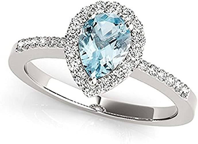 Oval Aquamarine Thin Simulated Diamond Engagement Sterling Silver Ring Set