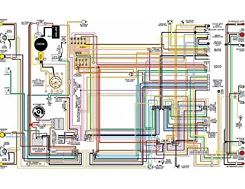 amazon com full color laminated wiring diagram fits 1962 63 64 65 Electrical Wiring Diagrams