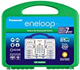 Panasonic K-KJ17MC124A eneloop Super Power Pack 12AA, 4AAA, 2 C Adapters, 2 D Adapters, 'Advanced' Individual Battery Charger and Plastic Storage, (Case Color May Vary)