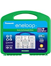 """Panasonic K-KJ17MC124A eneloop Super Power Pack 12AA, 4AAA, 2 C Adapters, 2 D Adapters, """"Advanced"""" Individual Battery Charger and Plastic Storage Case"""