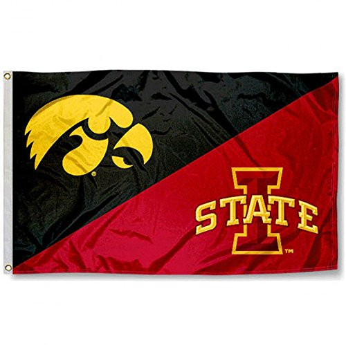 College Flags and Banners Co. Iowa State vs. Iowa House Divided 3x5 Flag