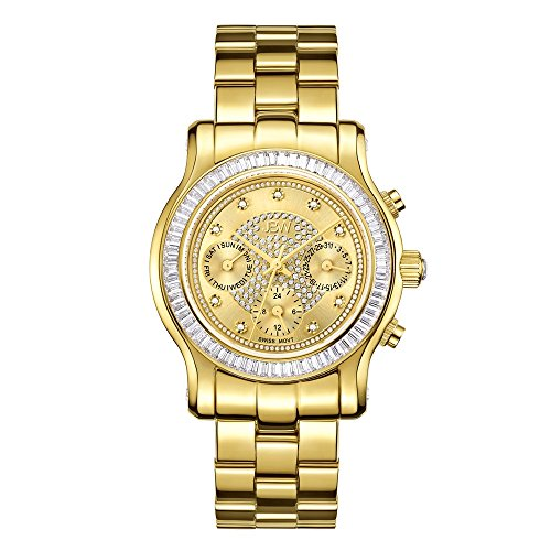 - JBW Women's J6330A Laurel Swiss Quartz Diamond 18K Gold Plated Stainless Steel Watch
