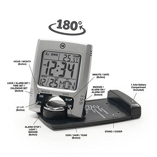 Amazon.com: MARATHON CL030023 Travel Alarm Clock With Calendar U0026  Temperature   Battery Included: Home U0026 Kitchen Gallery