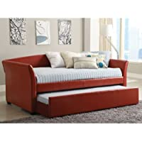 247SHOPATHOME IDF-1956RD Day-Beds, Twin, Red