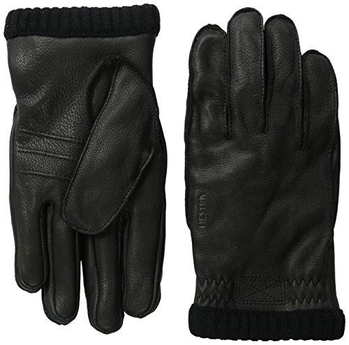 Hestra Deerskin Primaloft Rib Gloves, Black, 8