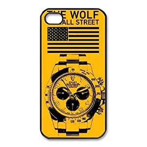 Plastic Cases Kkkhh iPhone 4,4S Cell Phone Case Black The Wolf of Wall Street Generic Design Back Case Cover