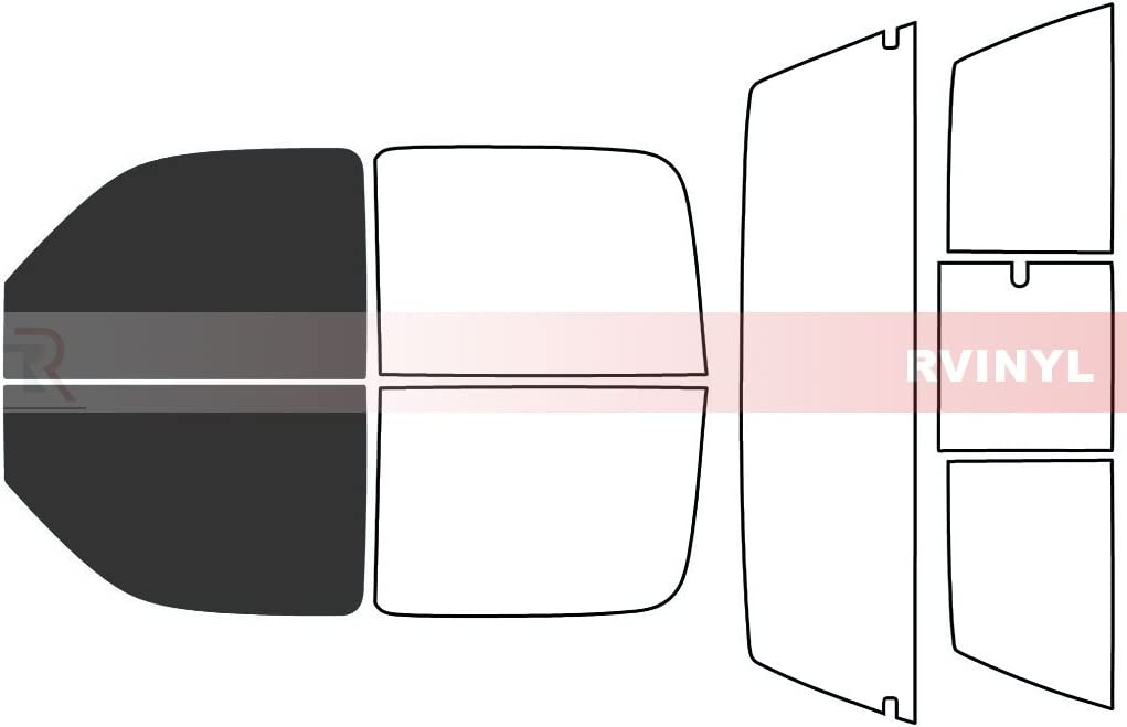 Rtint Window Tint Kit for GMC Sierra 2001-2006 4 Door - Windshield Strip 5/%