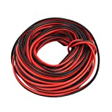 DealMux 10M AC 220V Electronic Wire Electrical Extension Cable Cord Red Black