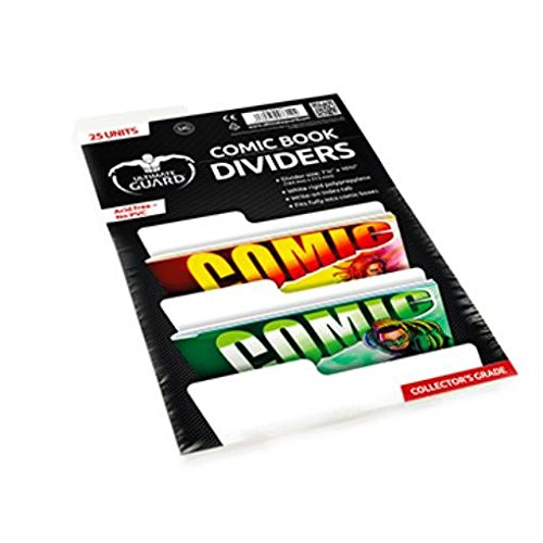 Comic Book Dividers (10 Pack of 25) by Comic Bags & Backing Boards Ultimate Guard