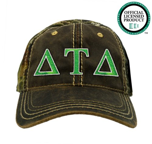 Delta Tau Delta (DTD) Embroidered Camo Baseball Hat, Various Colors