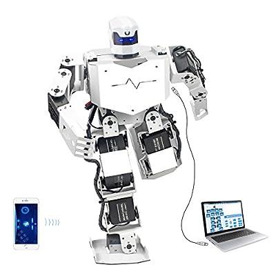 LewanSoul H3S 16DOF Biped Humanoid Robot Kit Free APP, MP3 Module, Detailed Video Tutorial Support Sing Dance(Assembled)