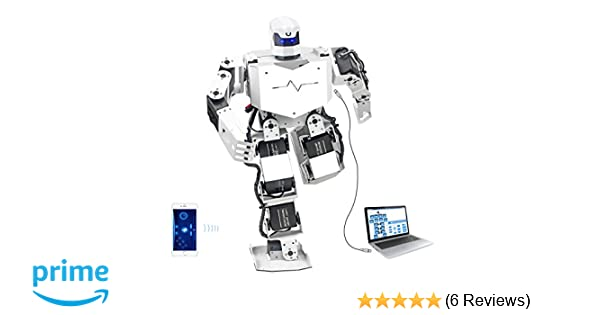 Hiwonder H3S 16DOF Biped Humanoid Robot Kit with Free APP, MP3 Module,  Detailed Video Tutorial Support Sing Dance(Assembled)