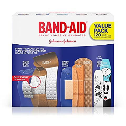 Band-Aid Brand Adhesive Bandages Variety Pack, 120 Count - Super Pro Pack