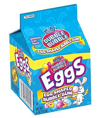 Dubble Bubble Egg Shaped Bubble Gum 4 oz