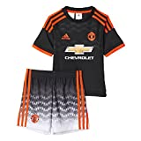 adidas MUFC 3Mini–Tracksuit bottoms, Black/Red multi-coloured black/red Size:4 Years