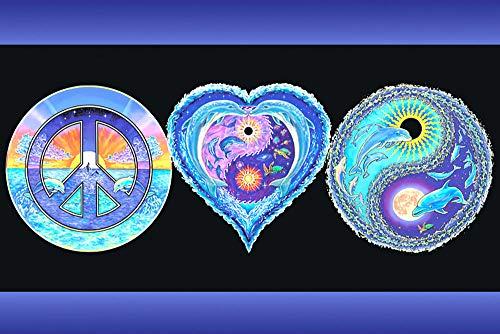 - Studio B Peace Love & Happiness Art Print Blacklight Poster 36x24 inch