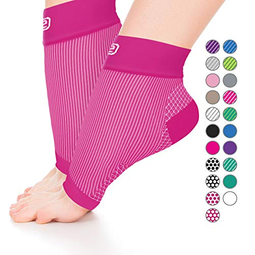 Plantar Fasciitis Sock, Compression Socks for Men Women - Best Ankle Sleeve for Arch Support, Injury Recovery and Prevention - Relief from Joint and Foot Pain, Swelling, Achy Feet(Pink Small)