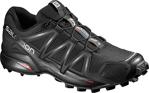 Salomon Men's Speedcross 4 Trail Runner, Black Metallic, 10.5 M US