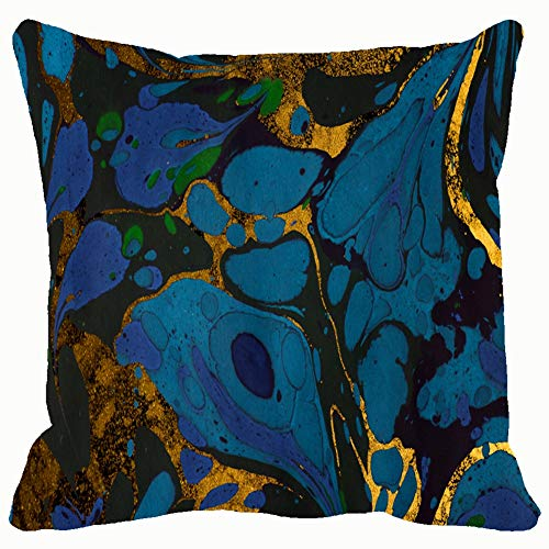 (Ink Marble ebru Handmade Wave Home Decorative Throw Pillow Case Cushion Cover for Gift Home Couch Bed Car 18