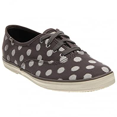 Keds Women's Champion Dot Fashion Sneaker, Grey, Size 5.0