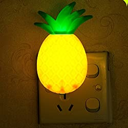 Gotian Wall Bedroom Bedside LED Night Lamp Switch Pineapple Fruit Cartoon Series Night Lamp Light