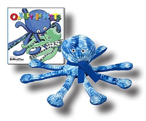 """Melissa & Doug Oakley the Octopus Stuffed Toy with """"Oakley in Knots"""" Story Book"""