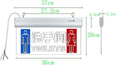 WC Segnaletica portaoggetti WC Indicatore di uscita di sicurezza Indicatore luminoso LED Indicatori acrilici trasparenti Uomini e donne Etichette ignifughi Luce di emergenza antincendio