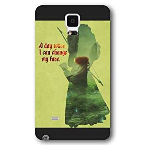 Customized Black Frosted Disney Brave Princess Merida Samsung Galaxy Note 4 Case