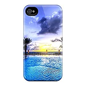 Hard Plastic Iphone 4/4s Case Back Cover,hot Pool Facing Sunrise Case At Perfect Diy