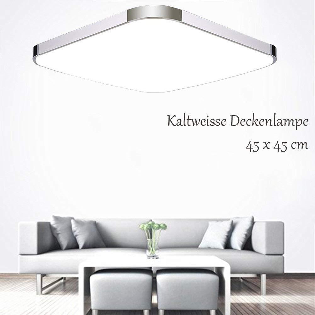 24W LED Wandlampe Deckenleuchte Badleuchte Küche Deckenlampe Wohnzimmer 45x45cm