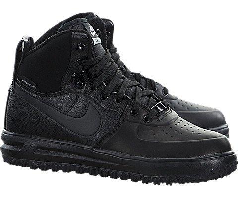 Nike Lunar Force 1 SneakerBoots (Kids) Black/Metallic Silver by Nike (Image #1)
